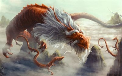 Арт, Фэнтези, Старый дракон