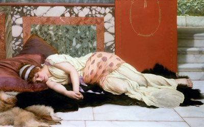 Джон Уильям Годвард, John William Godward, британский художник, Эндимион, 1893
