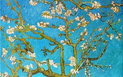Винсент ван Гог, Vincent van Gogh, нидерландский художник-постимпрессионист, Amandelbloesem, Цветущие ветки миндаля, 1890, холст, масло