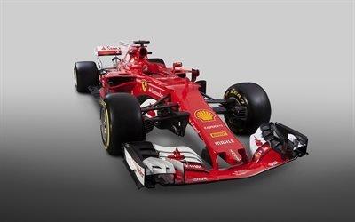 Формула 1, Феррари, Ferrari SF70H, 2017, гоночный болид, Formula 1