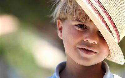ребёнок, мальчик, шляпа