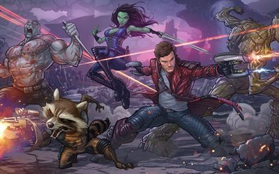 Арт, Фэнтези, Стражи Галактики, Art, Comics, Guardians of the Galaxy