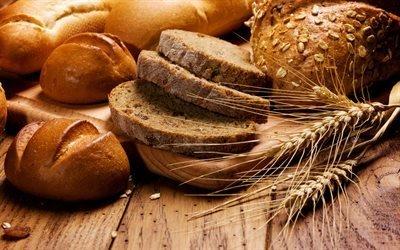 Деревянный стол, Колоски, Хлеб