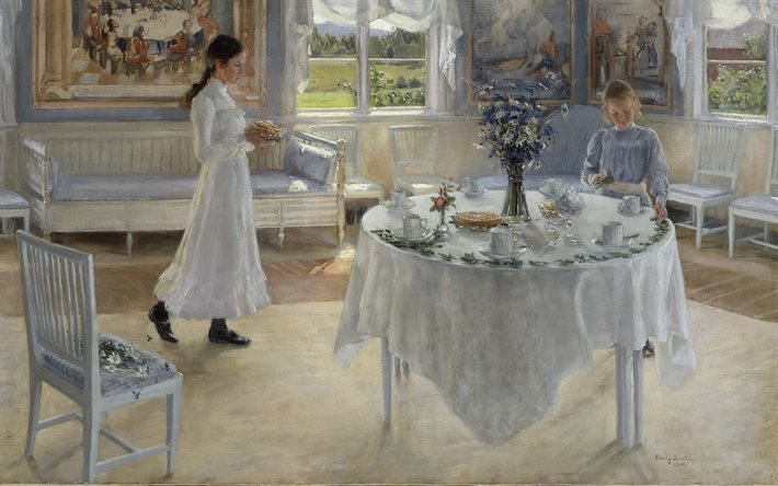 Фанни Брейт, Fanny Brate, шведская художница, 1902, A Day of Celebration