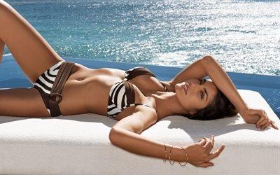девушка, бразильская, модель, Juliana Martins, Джулиана Мартинс, море, отдых, купальник, красавица