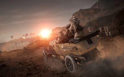 Battlefield 1, новые игры, 2016, 4k обои, военный внедорожник