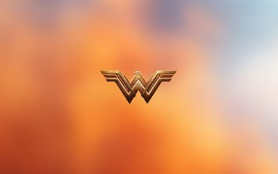 Чудо-женщина, логотип, боевик, 2017, 4k, Wonder Woman
