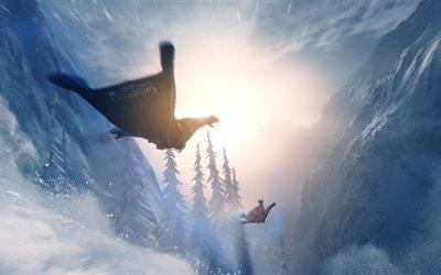 Steep Wingsuit, 2017 игра, симуляторы, новые игры