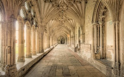 Галерея, Кентерберийский собор, Кентербери, Англия, Canterbury Cathedral, Canterbury, Kent, England