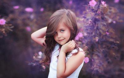 дети, девочка, ребёнок, природа, цветы