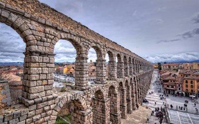 Римский Акведук, Сеговия, Испания, The Roman Aqueduct, Segovia, Spain