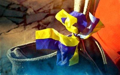прапор України, українська стрічка, стрічка, символи України, флаг Украины, украинская ленточка, лента, символы Украины
