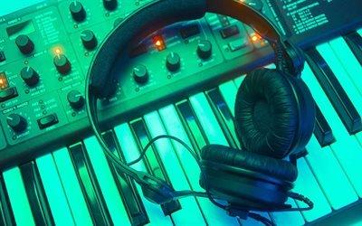 Музыка, Синтезатор, Наушники