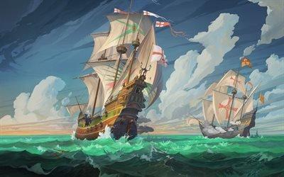 Корабли, Испания, Морской бой