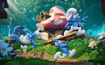 Смурфики 3 - Заброшенная деревня, Smurfs - The Lost Village, 2017, мультфильм, комедия