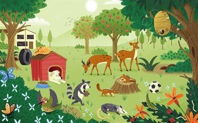 Задний двор, Природа, Фауна, Флора, The Backyard, Flora, Fauna