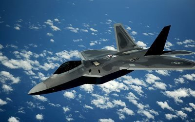 истребитель, Ф-22, Boeing F-22 Raptor, ВВС США, fighter aircraft