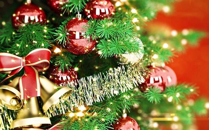 украшенная ёлка, новогодний фон, Новый Год, прикрашена ялинка, новорічний фон, Новий Рік