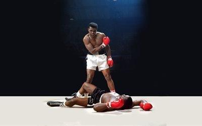 бокс, Мохаммед Али, легенда бокса, нокаут, ринг, Muhammad Ali