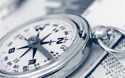 компас, металлический компас, макро, compass, metal compass, close-up