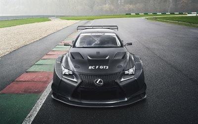 суперкары, 2017, Lexus RC F GT3, гоночная трасса, спорткары, Лексус