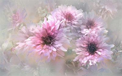 Текстуры, Пастель, Цветы