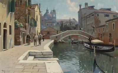 Петер Мерк Менстед, Peder Mork Monsted, датский художник, Венеция, 1928