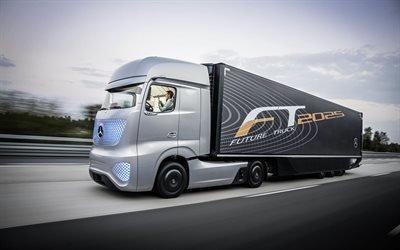 Мерседес-Бенц, грузовик с системой автопилота, Mercedes-Benz, Future Truck 2025
