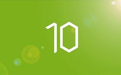 эмблема, Виндоус 10, windows 10, зеленый фон