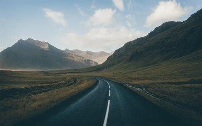 Исландия, долина, дорога, горы