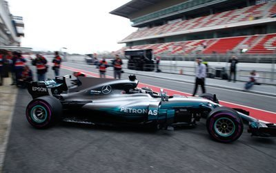 Mercedes-AMG Petronas Motosport, F 1, Formula One, 2017, Pre-Season, Barcelona, Spain, Valtteri Bottas, Валттери Боттас, финский автогонщик  Формула 1, Испания