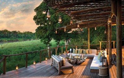Деревянный домик, Отель Lion Sands, Национальный парк Крюгера, Южная Африка, Kruger National Park, South Africa
