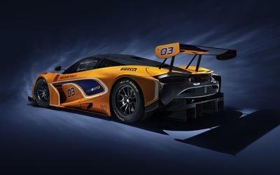 Макларен, спорткар, гоночное купе, 2019, McLaren, McLaren 720S GT3