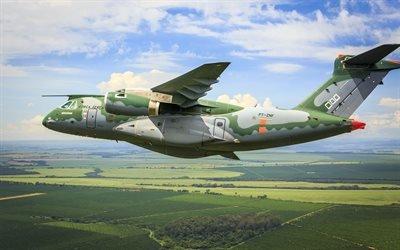 Embraer KC-390, двухмоторный транспортный самолет средней дальности, ВВС Бразилии