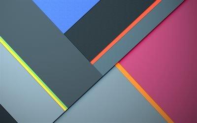 стильный цветной фон, Android 5, Lollipop, абстрактные фоны