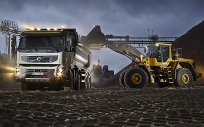 Вольво, карьерный самосвал, Volvo, FMX