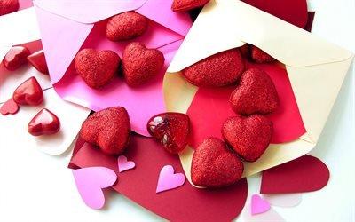 сердечка, День Святого Валентина, любовные письма