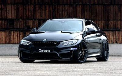 БМВ М4, G-Power, черная М4, F82, BMW M4, тюнинг БМВ, спортивные автомобили