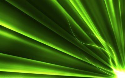 зеленые лучи, линии, креатив, неон