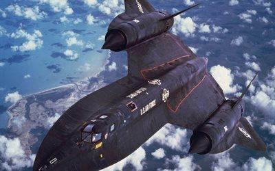 ВВС США, Lockheed SR-71 Blackbird, сверхзвуковой разведчик, военный самолет, США