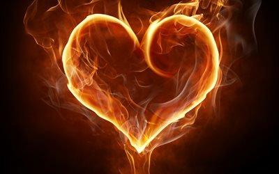 огненное сердце, огонь, дым, сердце, вогняне серце, вогонь, дим, серце