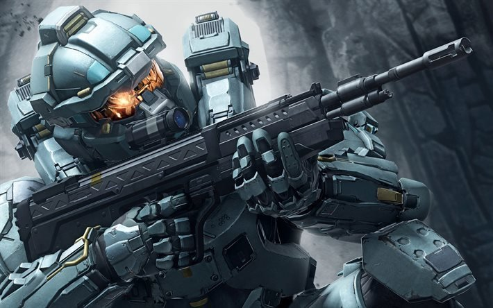 Halo 5, Guardians, шутер, боец, солдат, киборг