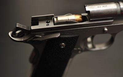 пистолет, Kimber 1911, патронник, затвор, патрон