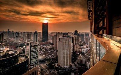 небоскрёбы, мегаполис, Хуанпу, Шанхай, Китай, Huangpu, Shanghai, China