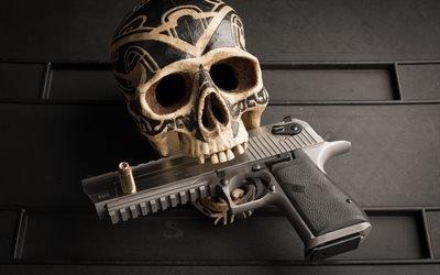 Пустынный орел, израильский пистолет крупного калибра, охотничье оружие, Desert Eagle, 50AE