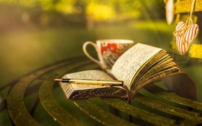 Вечерний досуг в парке, Записная книжка, Ручка, Чашка