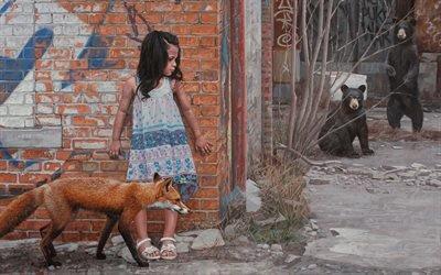 Кевин Петерсон, Kevin Peterson, американский художник, серия картин, Graffiti Girls