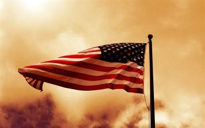 американский флаг, США, флаг Америки, флаг США