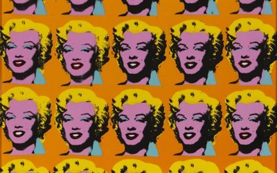 Картина, Живопись, Andy Warhol, Marilyn, 1962, Энди Уорхол, Мэрлин