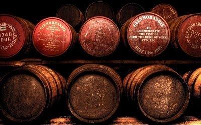 Бочки, Погреб, Glenmorangie, Гленморанджи, старое шотландское виски